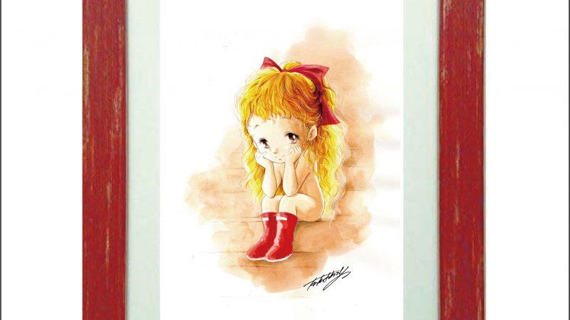 赤いリボンの少女~雨待ち~