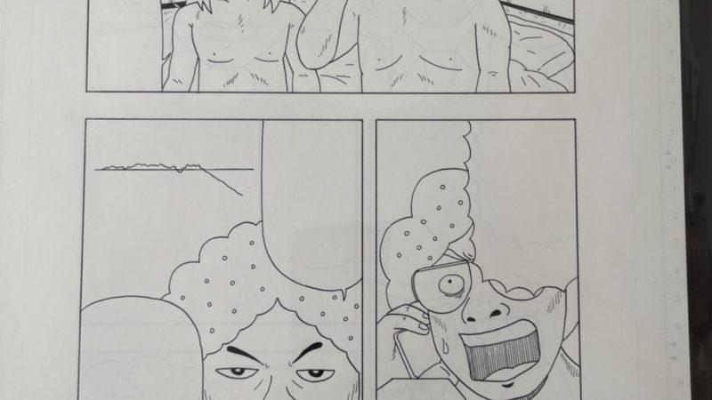 【グラサン師匠】漫画原稿1ページ分④