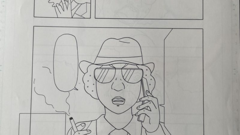 【グラサン師匠】漫画原稿1ページ分⑦