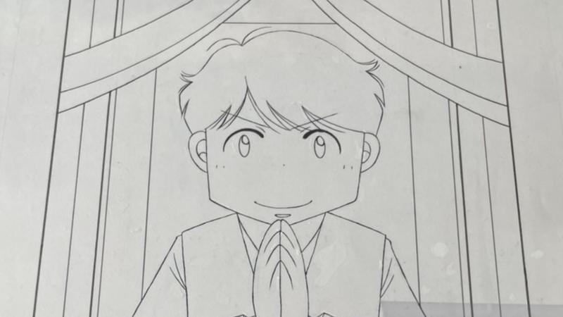 【赤坂まあな】『おくりびと芸人』表紙扉絵線画